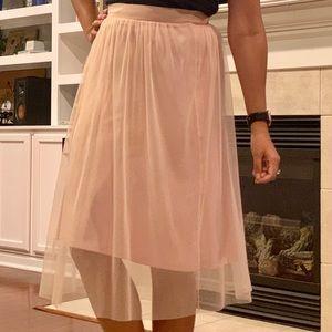 Pink/Blush tulle skirt